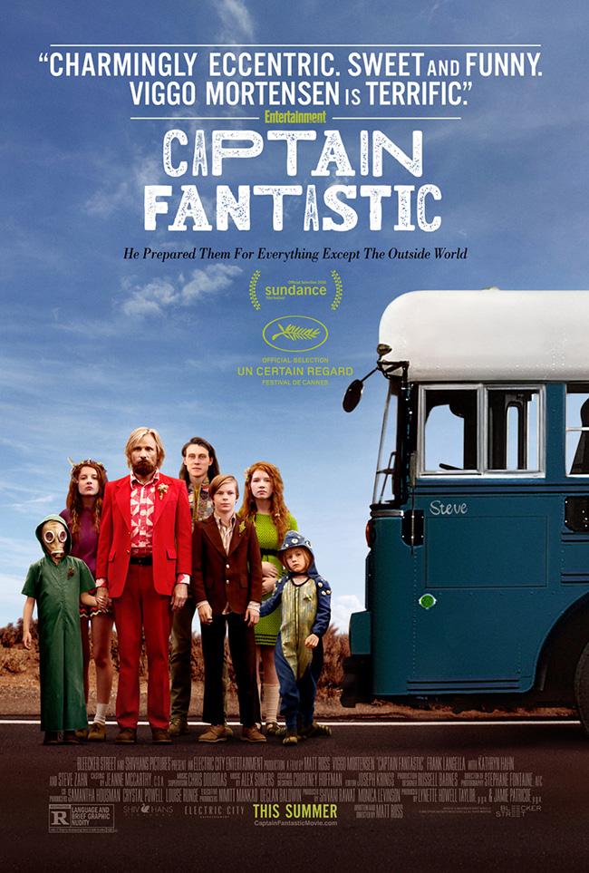 The movie poster for Captain Fantastic starring Viggo Mortensen