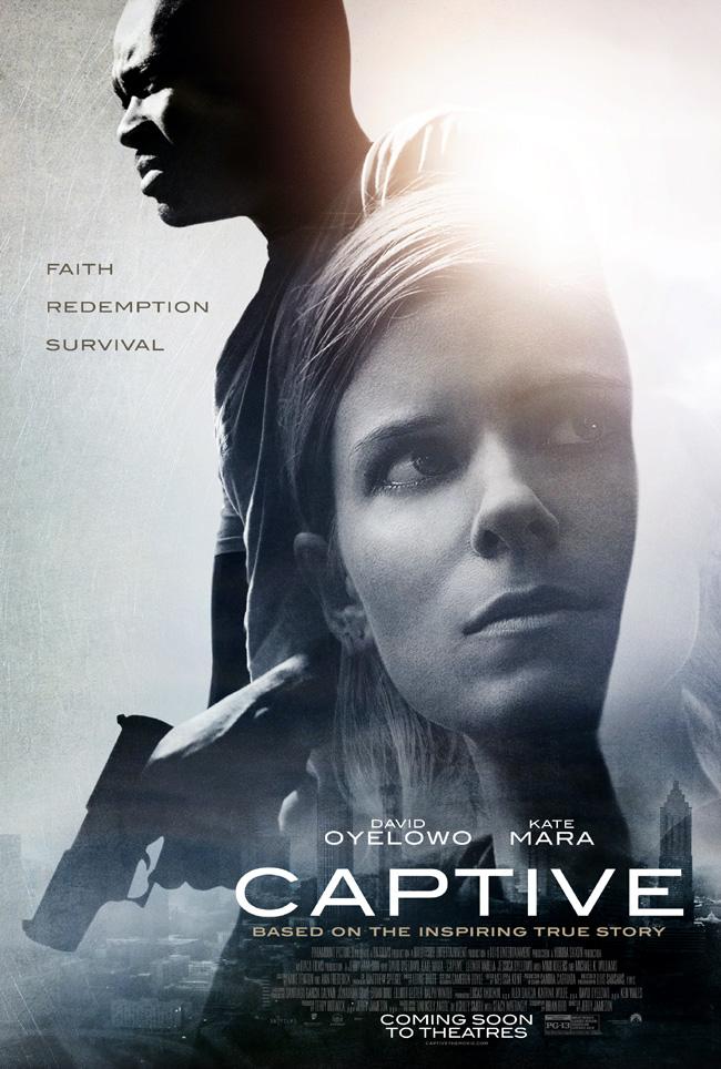 The movie poster for Captive starring Kate Mara and David Oyelowo