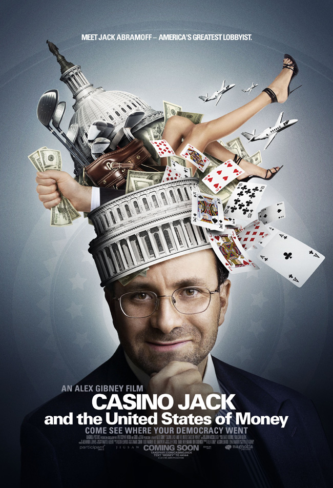 The movie poster for Casino Jack and the United States of Money from filmmaker Alex Gibney