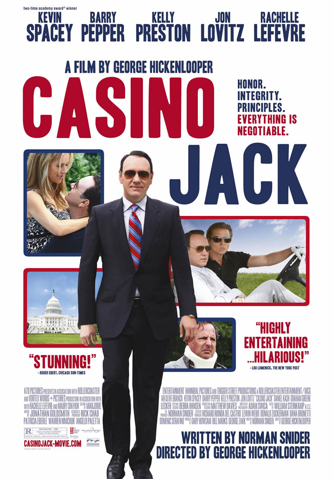 The movie poster for Casino Jack with Kevin Spacey