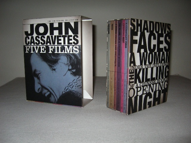 Cassavetes: Five Films was released on Criterion Blu-ray and re-released on Criterion DVD on October 22, 2013