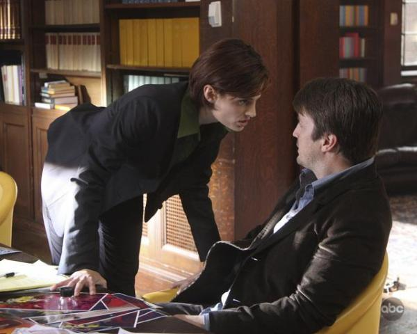 Stana Katic and Nathan Fillion in Castle.