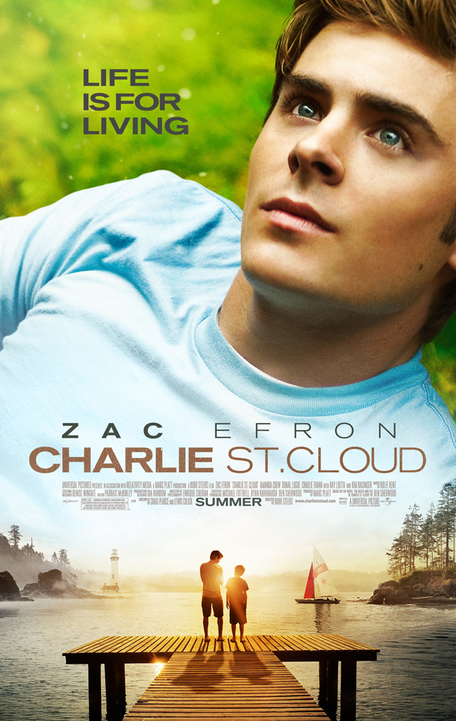 The movie poster for Charlie St. Cloud with Zac Efron