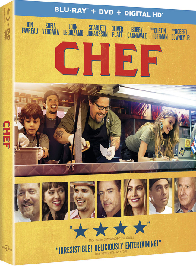 Chef came to Blu-ray and DVD combo pack on Sept. 30, 2014