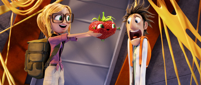 Anna Faris and Bill Hader in Cloudy with a Chance of Meatballs 2