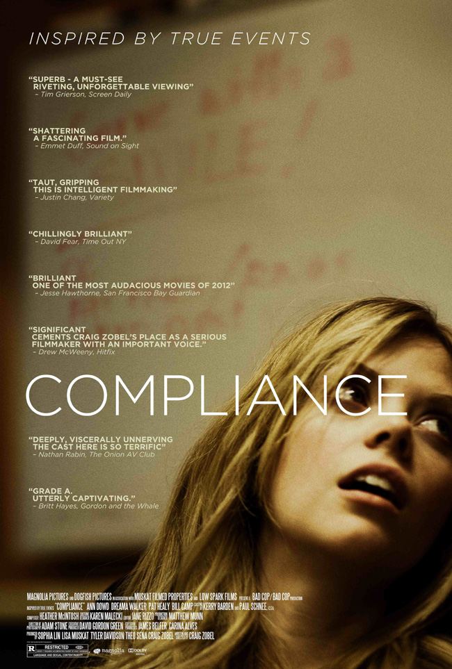 The movie poster for Compliance starring Ann Dowd