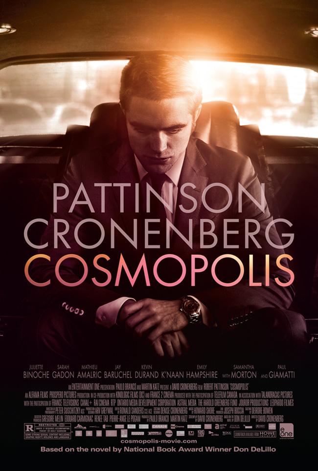 The Cosmopolis movie poster starring Robert Pattinson from director David Cronenberg