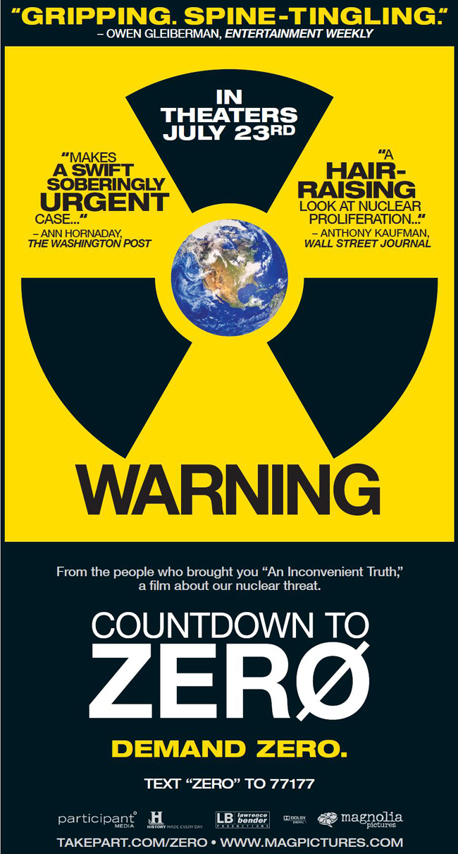 The movie poster for Countdown to Zero