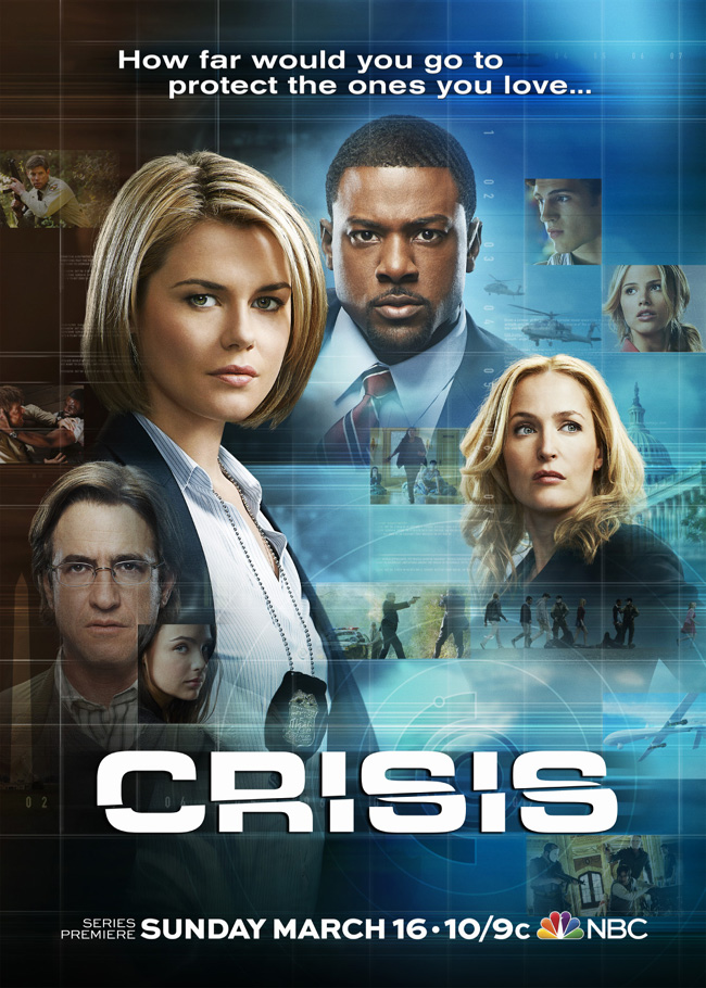 The TV poster for NBC's Crisis starring Gillian Anderson
