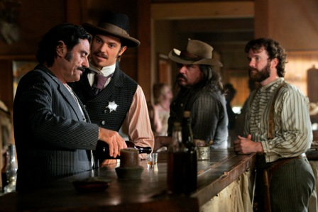 Deadwood: Ian McShane, Timothy Olyphant, Earl W. Brown, Titus Welliver.