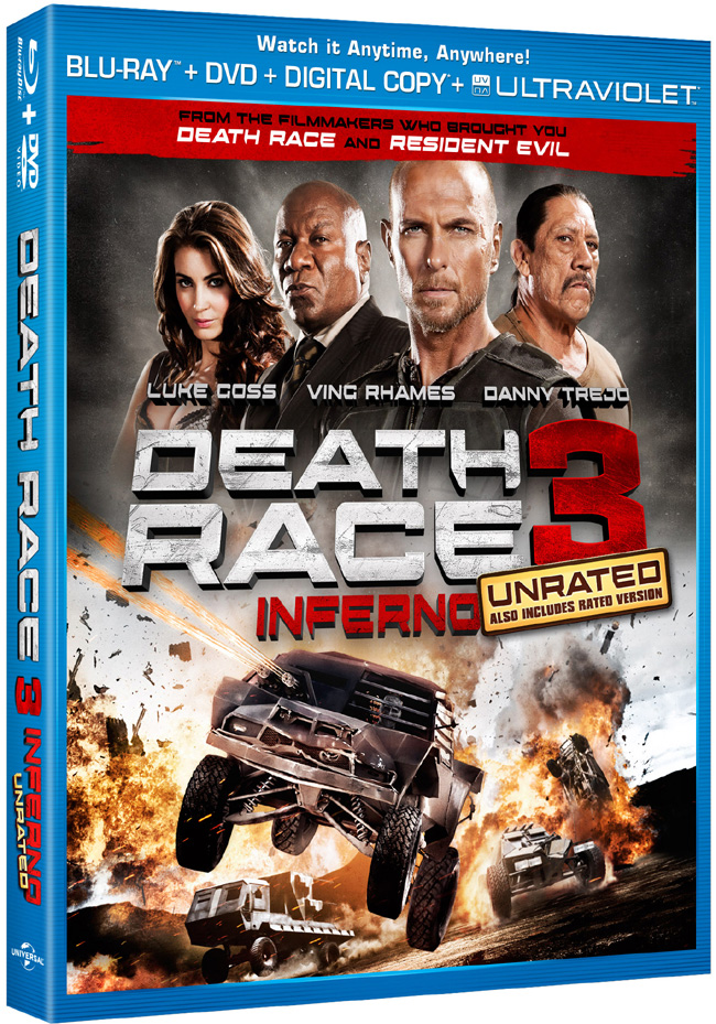 Death Race 3: Inferno came to Blu-ray and DVD combo pack on Jan. 22, 2013