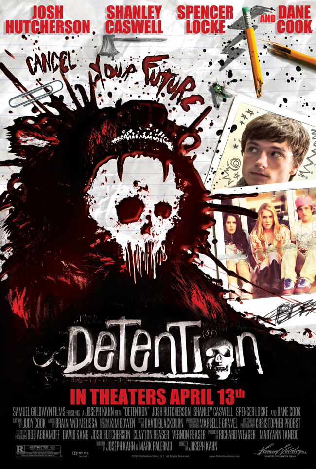The movie poster for Detention with Josh Hutcherson and Dane Cook
