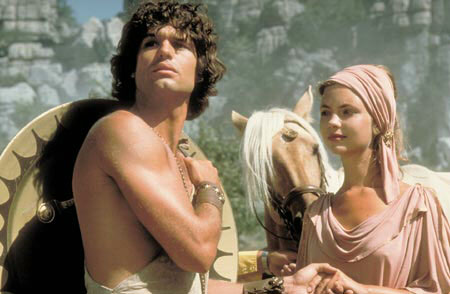 Harry Hamlin and Judi Bowker star in Desmond Davis's 1981 fantasy classic Clash of the Titans.