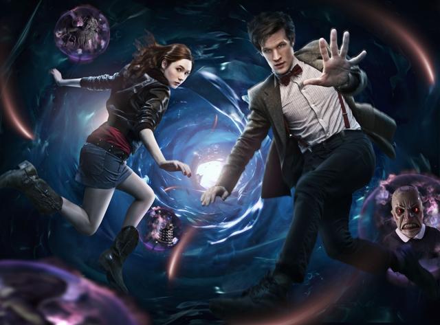 Doctor Who: Karen Gillan and Matt Smith.