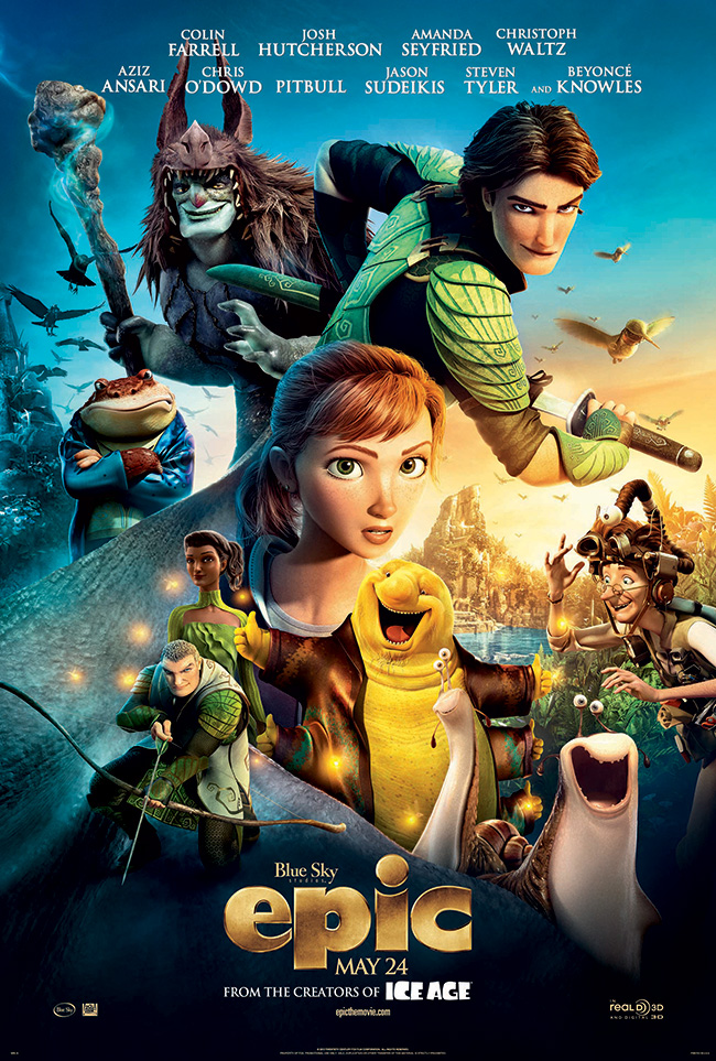 The movie poster for Epic from the creators of Ice Age and Rio