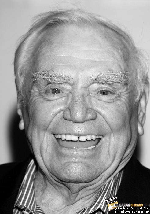 92 year-old Oscar winning actor Ernest Borgnine flashes his famous smile for the HollywoodChicago.com lens at the signing of his book 'Ernie: The Autobiography' on July 20, 2009 at Borders North Michigan Avenue in Chicago.