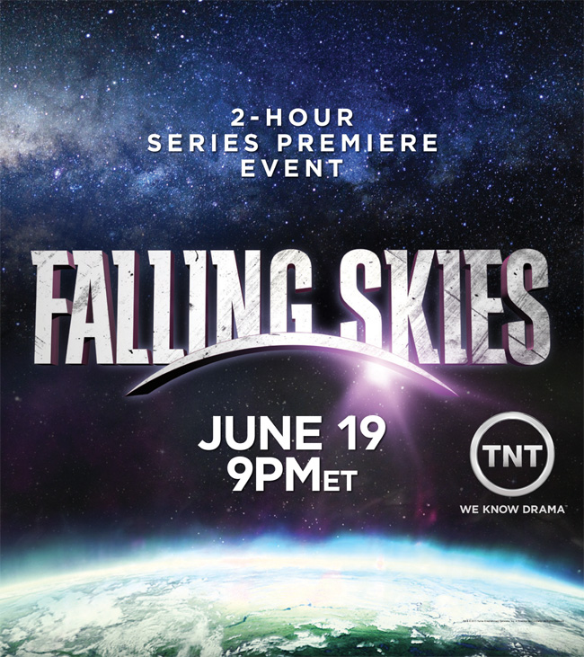 Falling Skies premieres on TNT on June 19, 2011 at 9 p.m. ET/PT