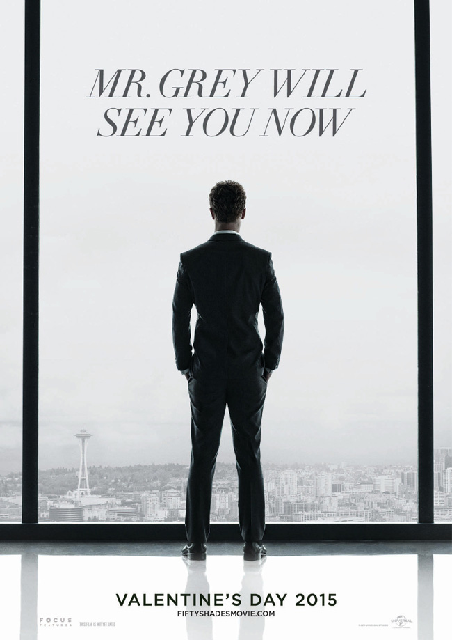 The movie poster for Fifty Shades of Grey starring Jamie Dornan and Dakota Johnson