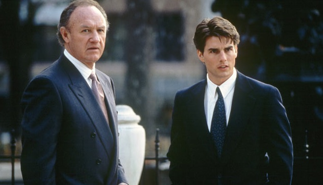 Gene Hackman and Tom Cruise star in Sydney Pollack's The Firm.
