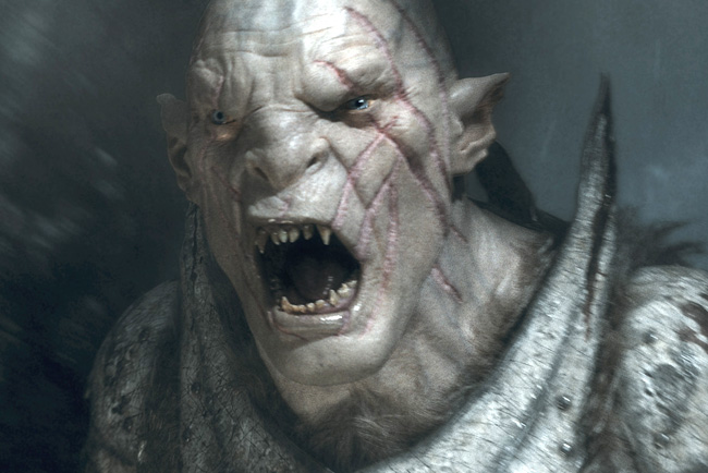 Manu Bennett as Orc Azog in The Hobbit: The Battle of the Five Armies