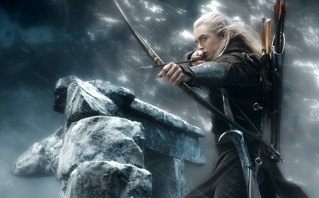 Orlando Bloom as Legolas in The Hobbit: The Battle of the Five Armies