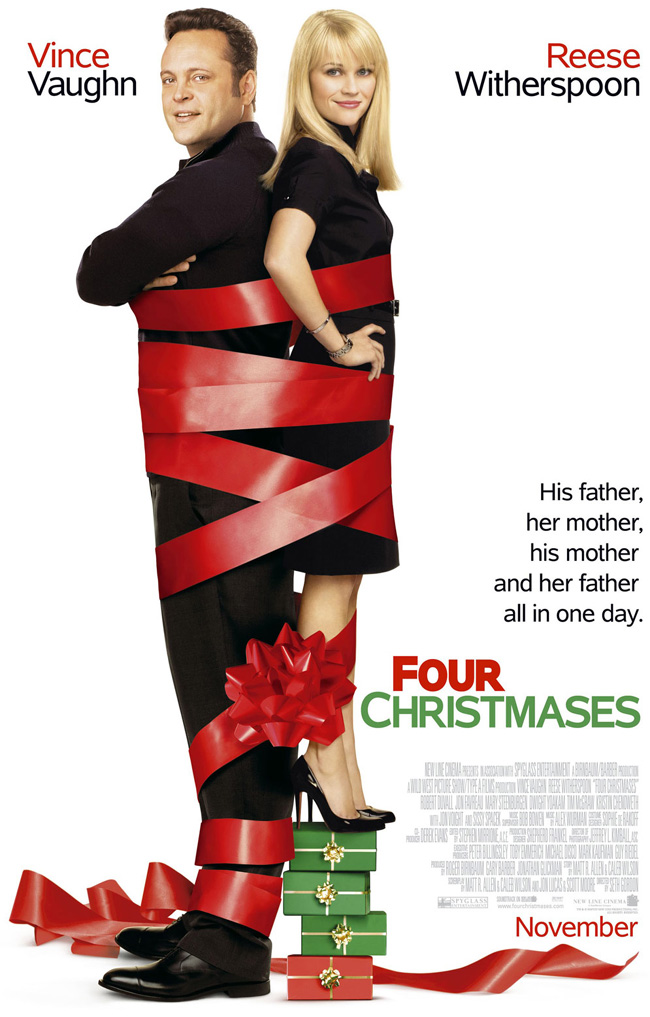 Four Christmases features Vince Vaughn, Reese Witherspoon, Robert Duvall, Jon Favreau, Jon Voight, Sissy Spacek, Tim McGraw, Kristin Chenoweth and Dwight Yoakam from director Seth Gordon