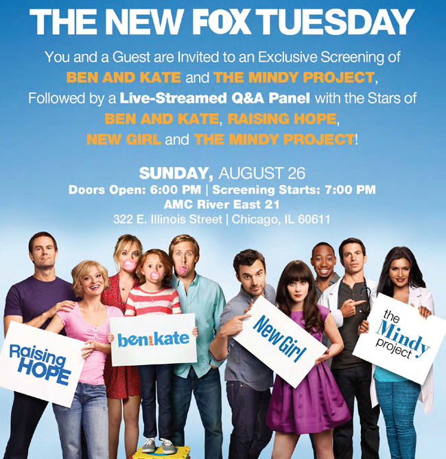 The advance Chicago VIP TV party for the new FOX Tuesday.
