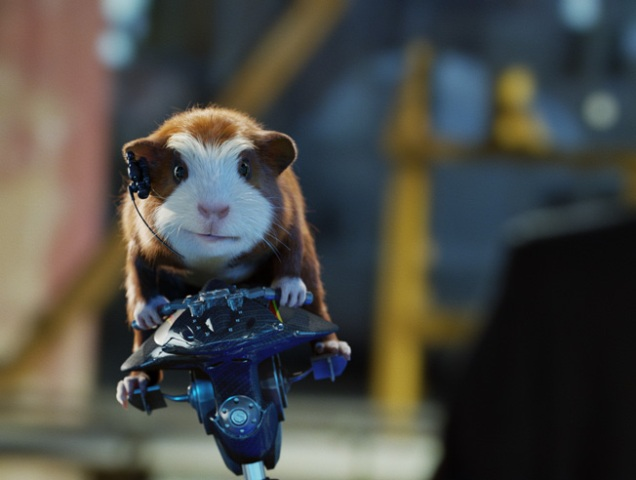 Sam Rockwell voices a highly trained guinea pig in Hoyt Yeatman's highly unbearable G-Force.