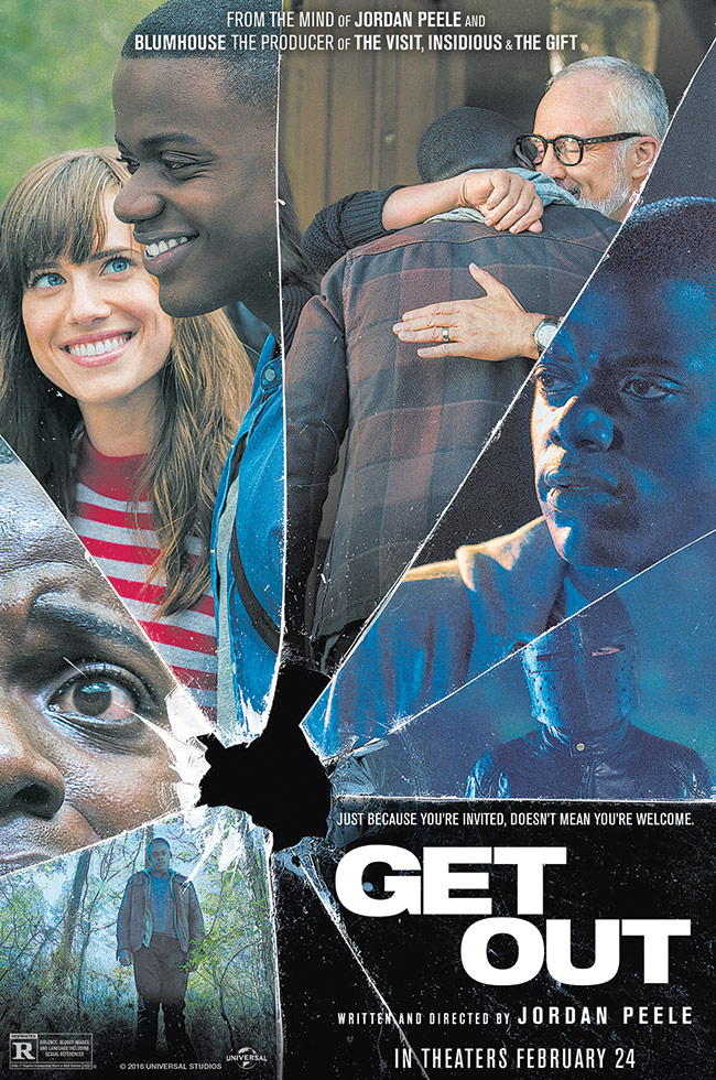 The movie poster for Get Out from the mind of Jordan Peele