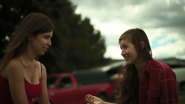 Sophia Takal and Kate Lyn Sheil star in Takal's Green.