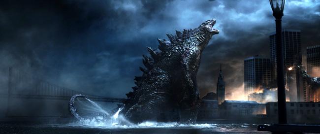 A scene from 2014's Godzilla