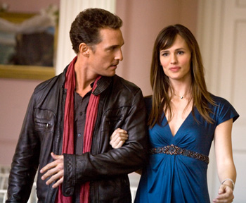 Matthew McConaughey as Connor Mead and Jennifer garner as Jenny Perotti in Ghosts of Girlfriends Past