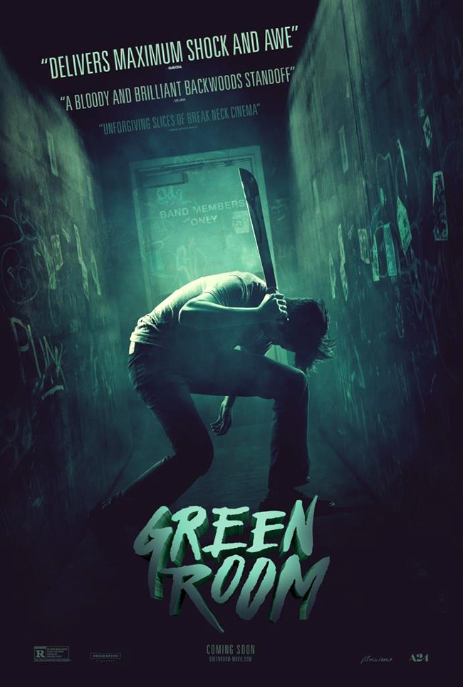 The movie poster for Green Room starring Patrick Stewart