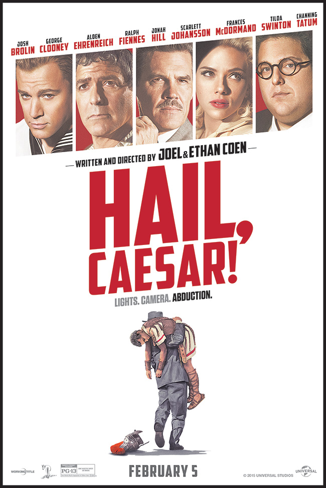 The movie poster for Hail, Caesar! from Joel and Ethan Coen