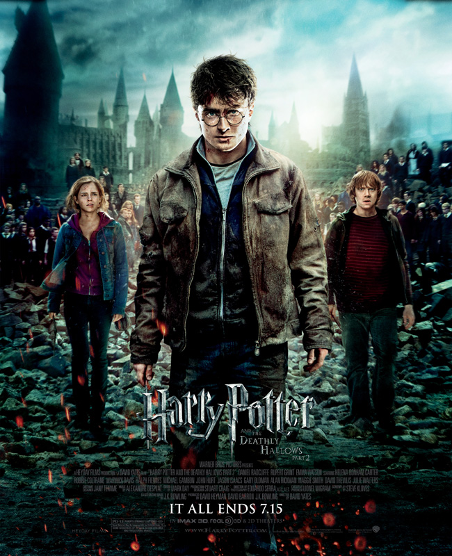 The movie poster for Harry Potter and the Deathly Hallows: Part 2