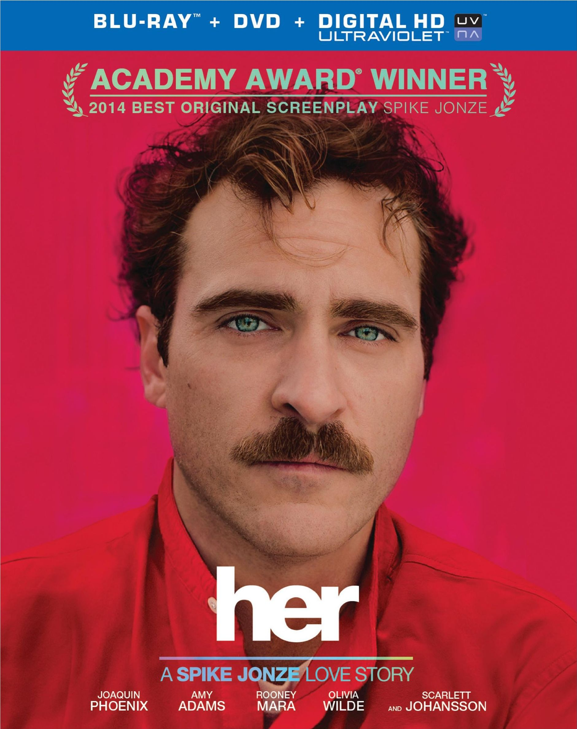 Her was released on Blu-ray and DVD on May 13, 2014