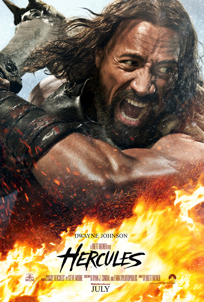 The movie poster for Hercules starring Dwayne Johnson, Ian McShane and Joseph Fiennes