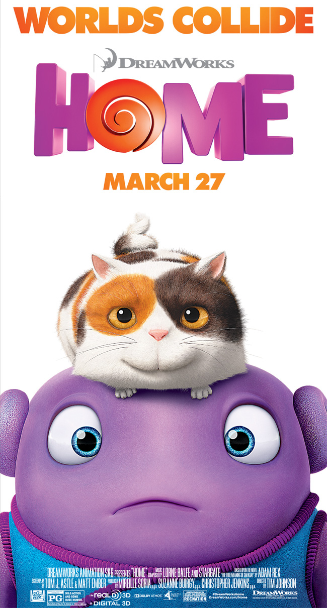 The movie poster for Home starring Jim Parsons and Rihanna