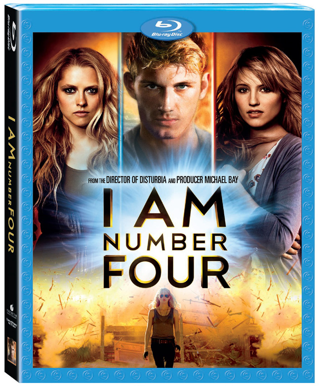 The Blu-ray for I Am Number Four from the director of Disturbia and producer Michael Bay