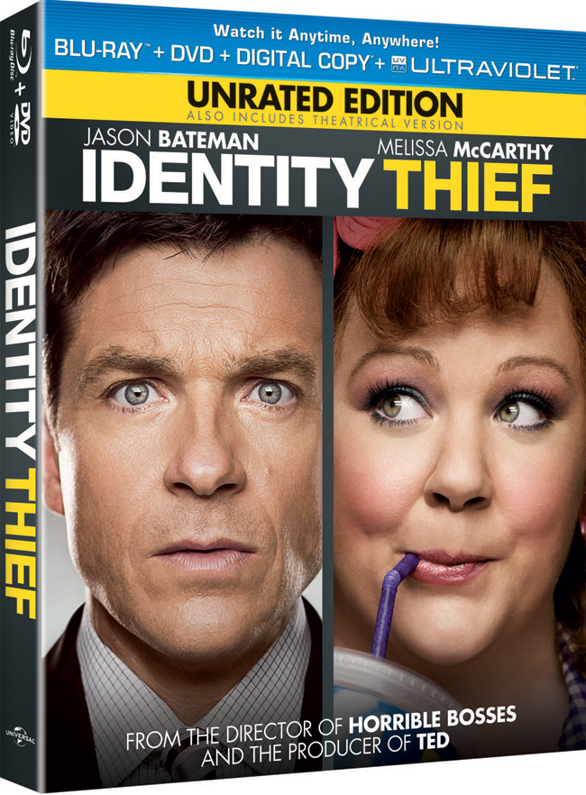 Identity Thief with Jason Bateman and Melissa McCarthy came to to Blu-ray and DVD combo pack on June 4, 2013