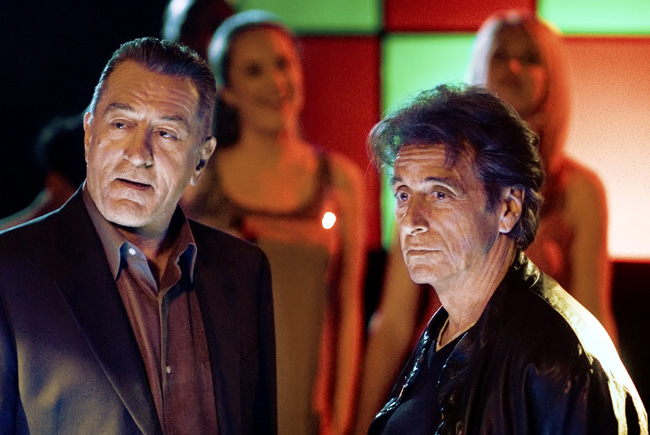 Left to right: Robert De Niro and Al Pacino in Righteous Kill