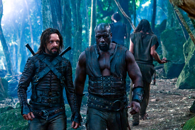Michael Sheen (left) and Kevin Grevioux star in Underworld: Rise of the Lycans