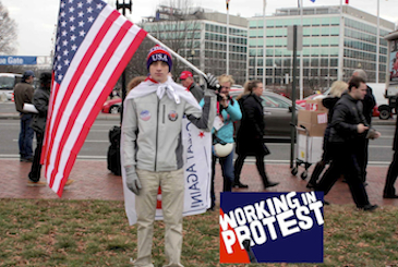 Working in protest