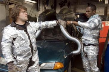 Jack Black (left) and Mos Def in Be Kind Rewind