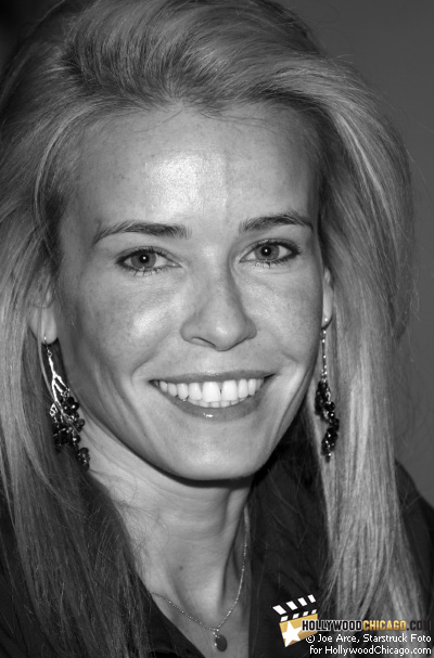 Actress Chelsea Handler strikes a pose for the HollywoodChicago.com lens at a Borders in Chicago before a book signing on Oct. 26, 2008 for her best seller Are You There Vodka? It's Me, Chelsea