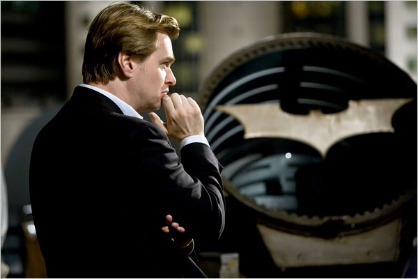 Director Chris Nolan on the set of The Dark Knight