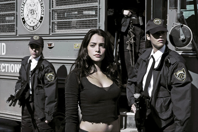 Navigator Case (Natalie Martinez) arrives from the women's prison in an action-thriller set in the near future with the world's most brutal sporting event as its backdrop in Death Race
