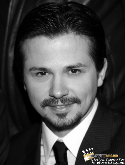 Freddy Rodriguez poses for the HollywoodChicago.com lens in Chicago on Dec. 1, 2008 at the Music Box Theatre for the red-carpet premiere of Nothing Like the Holidays