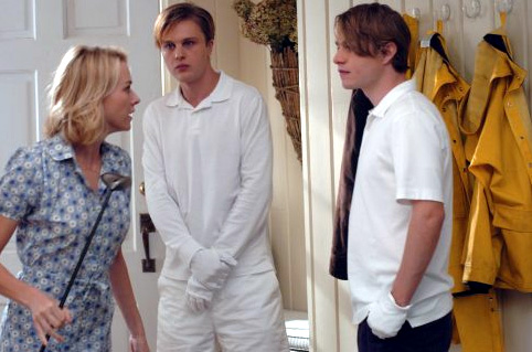 Naomi Watts, Michael Pitt (middle) and Brady Corbet in Funny Games
