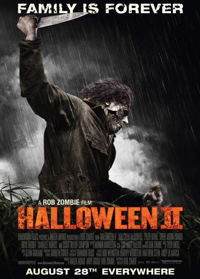 The movie poster for Rob Zombie's Halloween II
